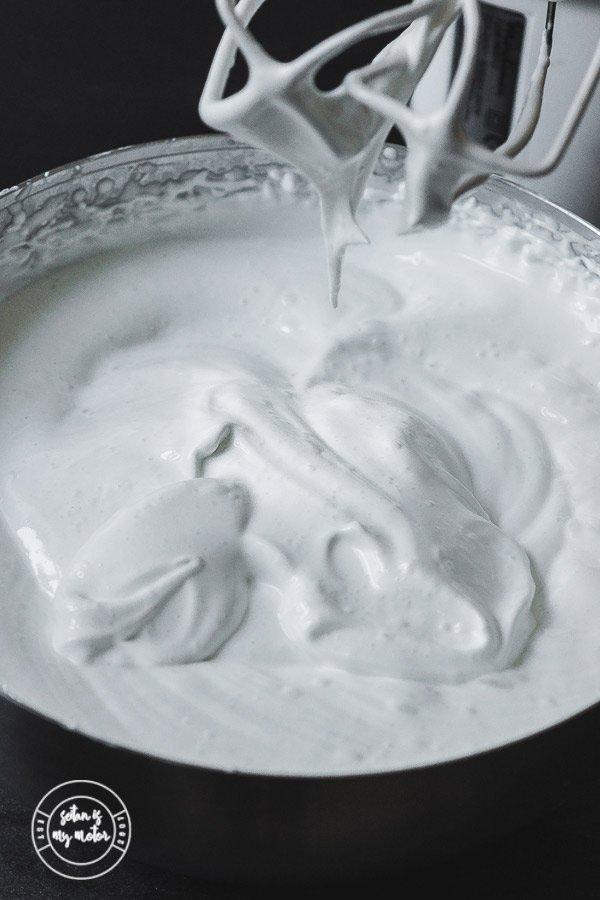 A big bowl of vegan marshmallow fluff.