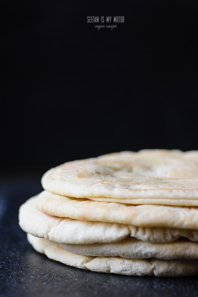 fresh homemade pita bread