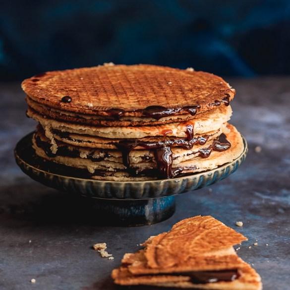 Vegan Stroopwaffles | vegane Stroopfaffeln | Stroopwafles | Sirupwaffeln