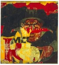 Rotella,  Le cachet, 1960, décollage su tela