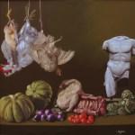 NIGIANI IMPERO - Alle zucche gli piace il primo piano, 2015, olio su tela, cm 70x70