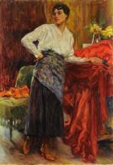 Giorgio Kienerk-Interno con modella-1918
