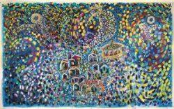 Sandro Zendralli, Beetlemme, 2013, Acrilico su tela, cm 360 x 220