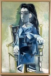 Picasso, Jacqueline assise avec son chat,  1964