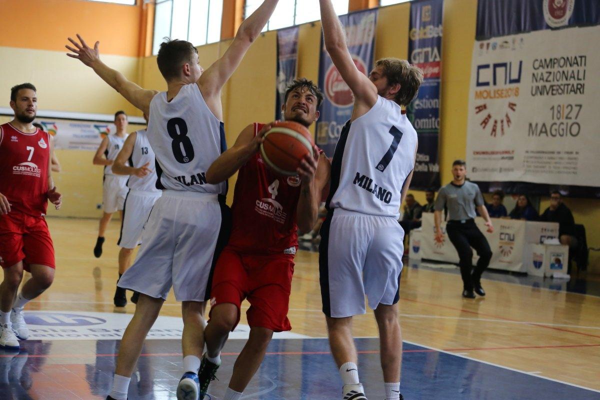 Basket, la panchina lunga del Cus Milano schiaccia il Cus Molise
