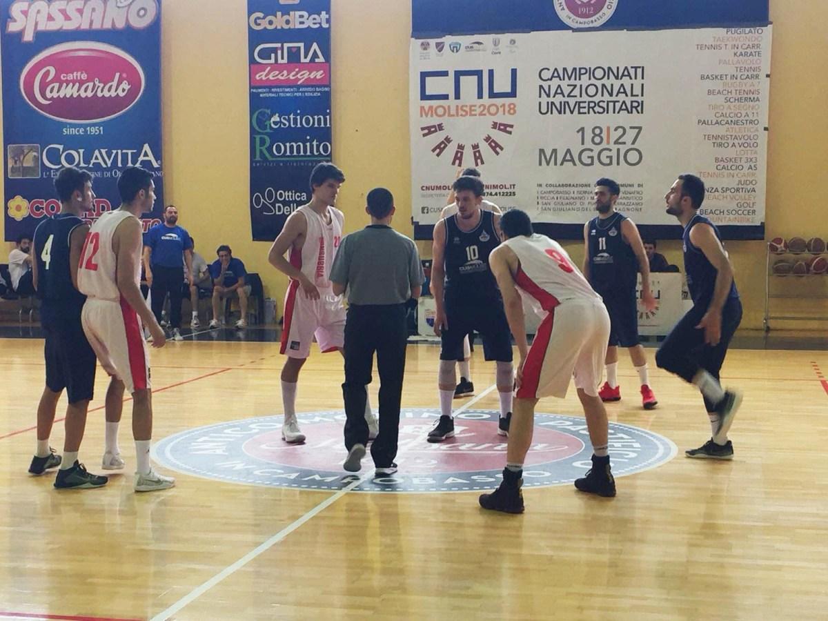 Basket, impresa all'esordio per il quintetto di Sabatelli. 28 punti per Di Gregorio e rimonta da -17 sul Cus Insubria Varese