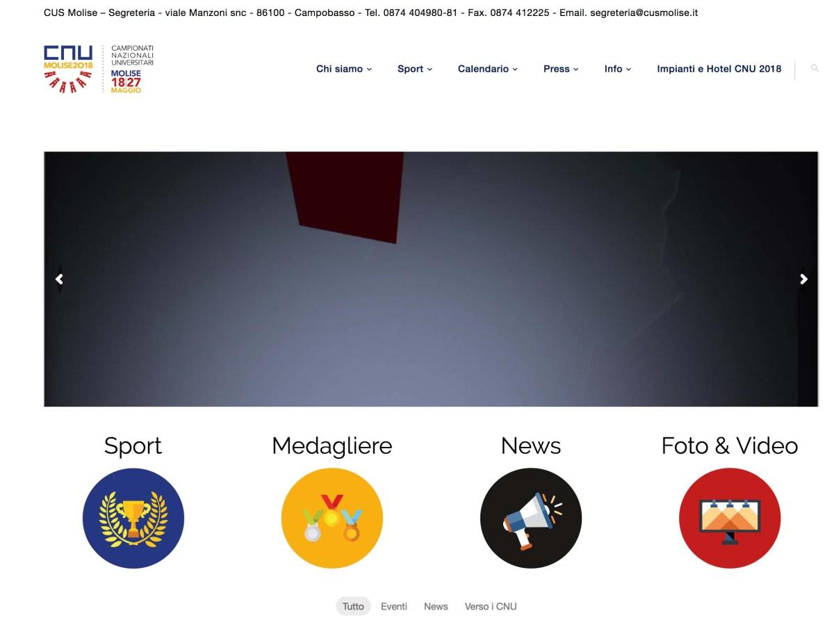 CNU Molise 2018, attivo il sito web dedicato. Come seguirli sui social