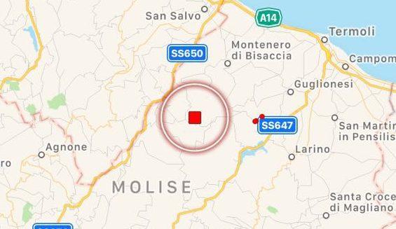 Notte di paura in Molise: una scossa di terremoto di magnitudo 4.6 getta nel terrore numerosi comuni della regione. Nessun danno registrato