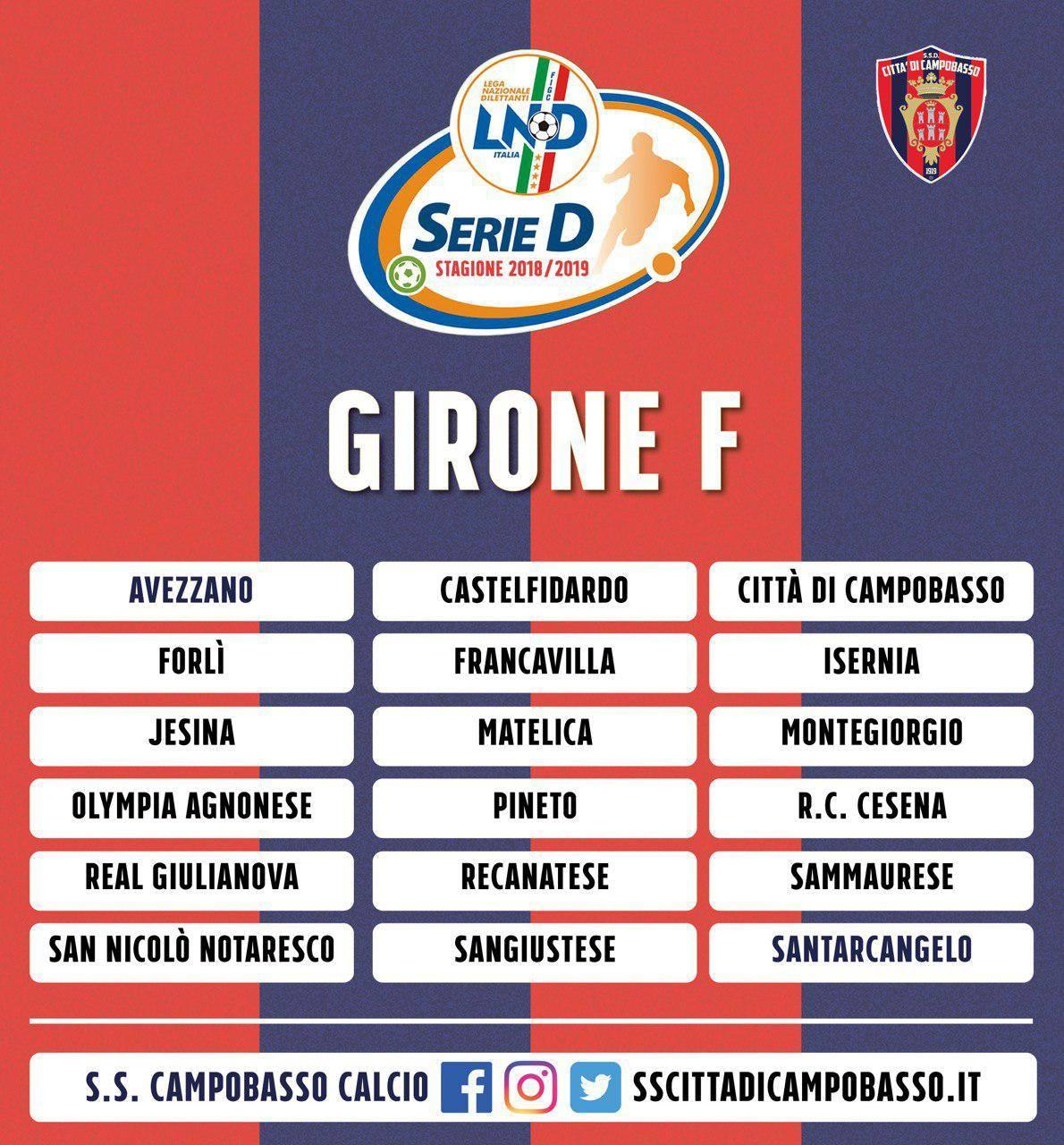 Serie D Le Molisane Nel Girone F Con Il Cesena Scongiurata La