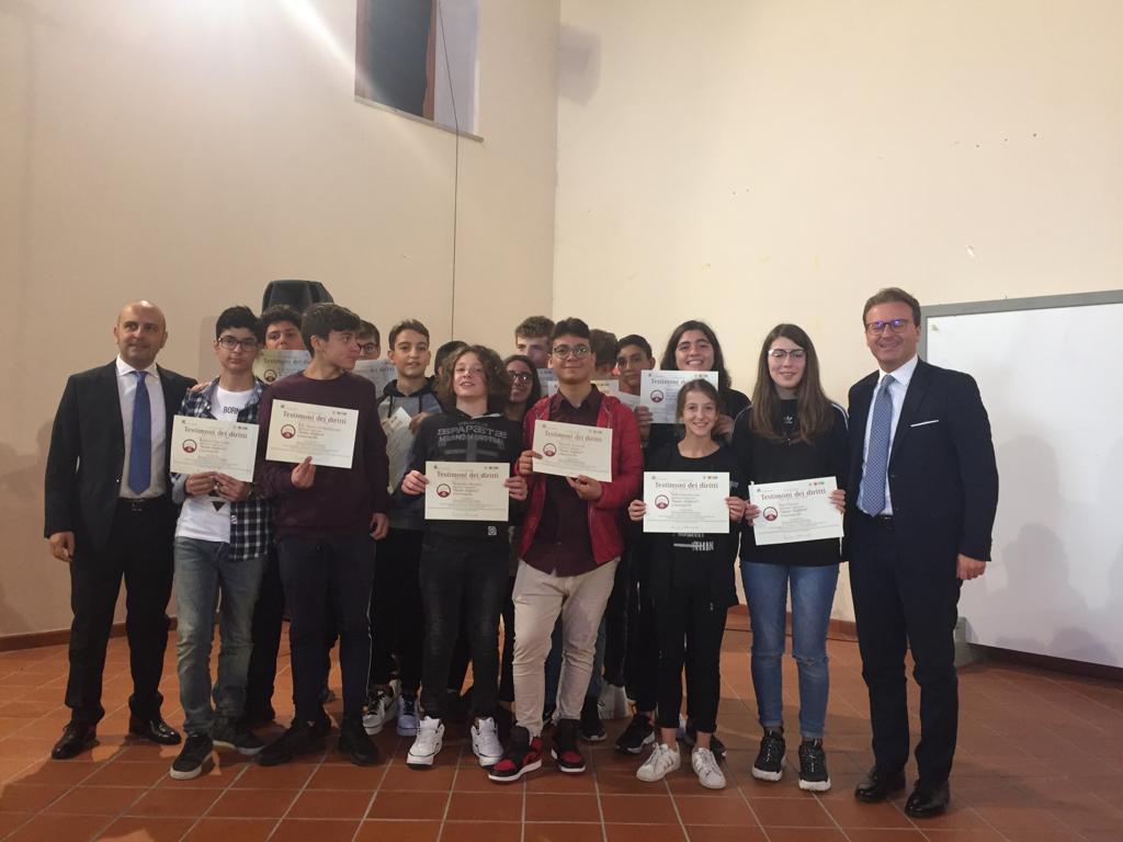 """Successo per la quinta edizione di """"Petrella in Fiera 2018"""". Premiati gli alunni del progetto del Senato """"Testimoni dei diritti"""""""