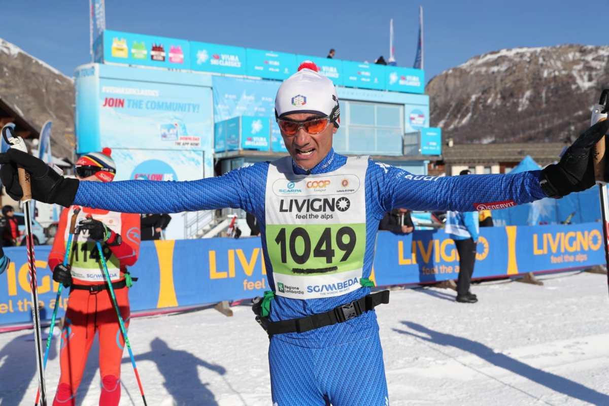 Sci di fondo - Super Antonio Sassano alla Sgambeda di Livigno. Ottimo piazzamento anche per Italo Paglione