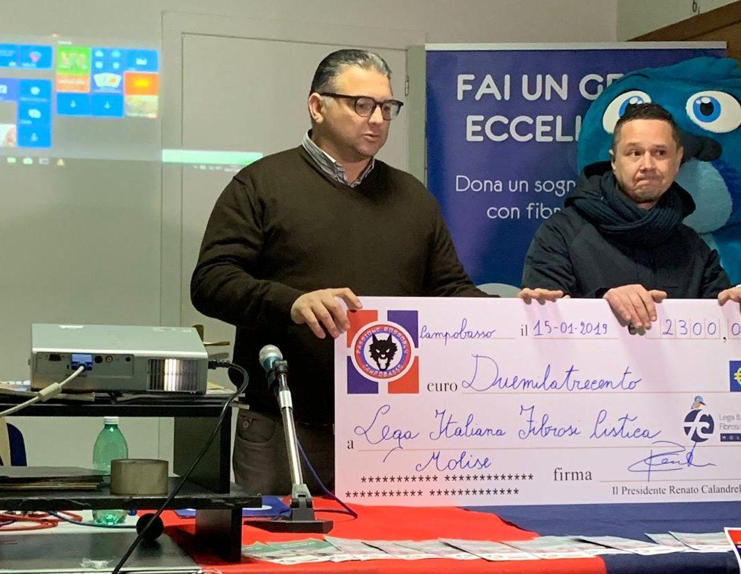 Lotteria Passione Rossoblù, consegnato il ricavato alla Lega Italiana Fibrosi Cistica Molise
