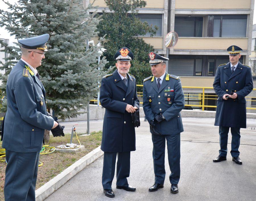 Visita del Comandante della Gdf Carlo Ricozzi agli uomini del Comando Regionale Molise