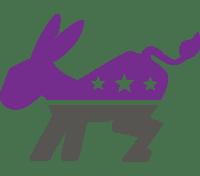 purple democratic donkey icon