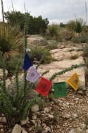 Photo of prayer flags on Amy's scenic drive