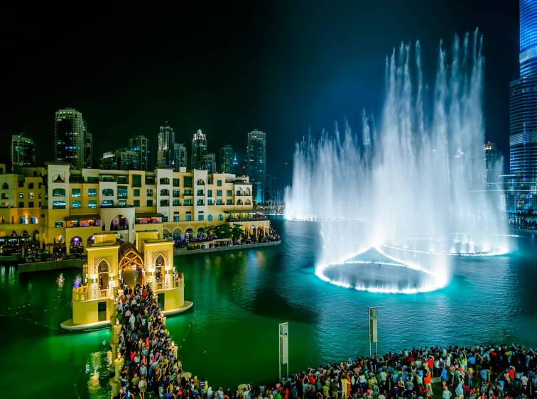 Canva - Dubai fountain view near Burj Khalifa, Dubai, United Arab Emirates