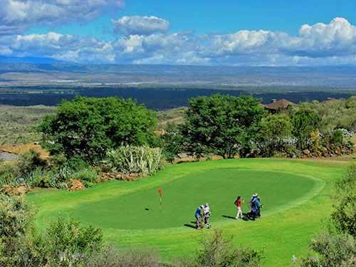 Golf safari Great Rift Valley Lodge de Naivasha au Kenya + safari Masaï Mara lac Nakuru Amboseli