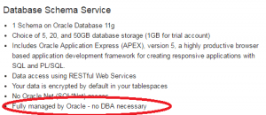 Cloud - No DBA cecessary