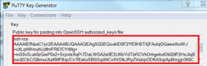 Copy and save your Public Key