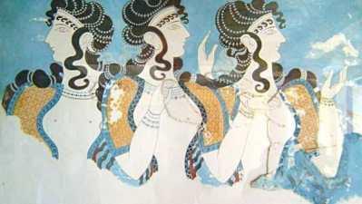 ミノア文明 クノッソスのフレスコ画
