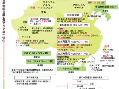 29.清代の中国と隣接諸地域図