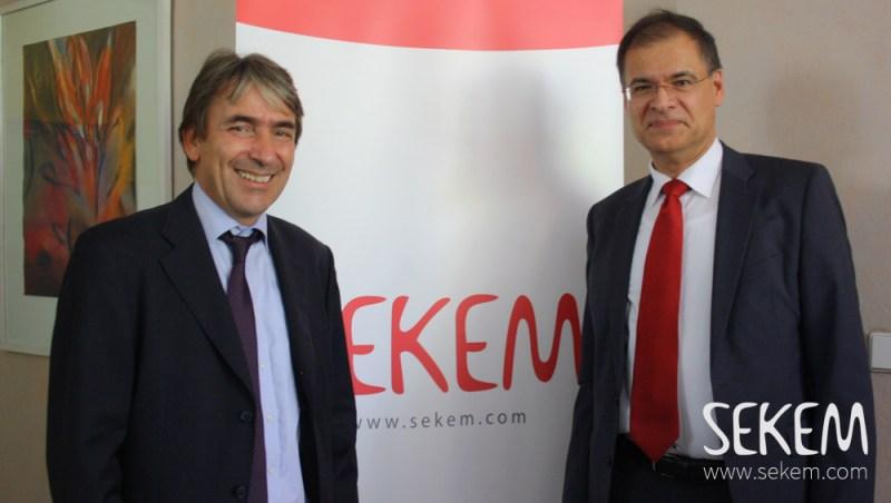 Dr. Andreas Kuck, GIZ und Helmy Abouleish, SEKEM