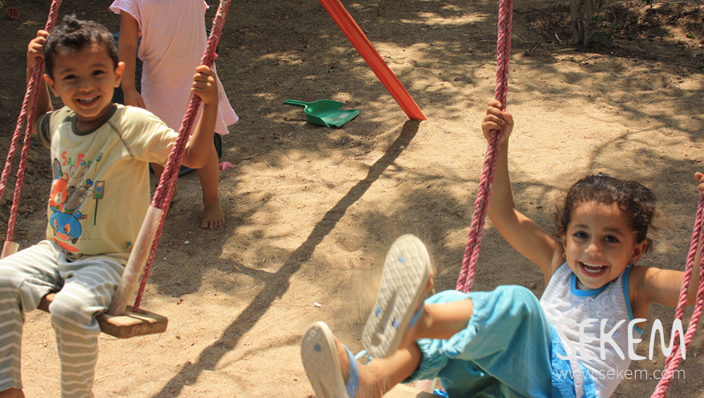 Children playing in the kindergarten
