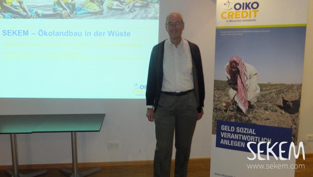 Eberhard Proissl Oikocredit SEKEM