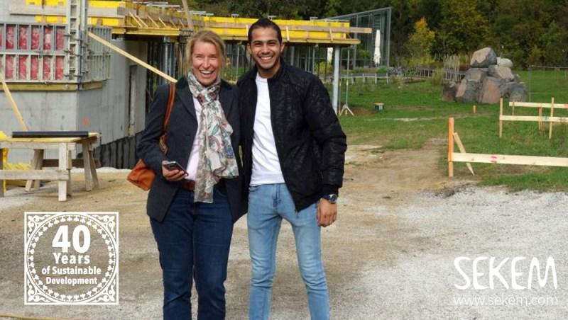 Birgit Birnstingl, CEO of SEKEM Energy, and Karim enjoyed their time in Graz
