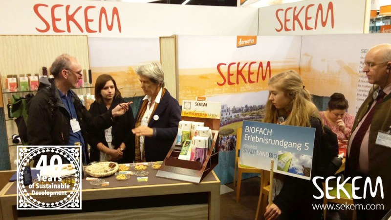 The One World Network of Bavaria at the SEKEM booth.