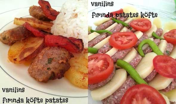 Fırımda köfte ve patates