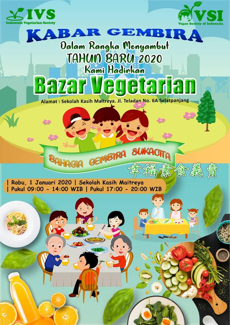 Bazar Vegetarian Dalam Rangka Menyambut Tahun Baru 2020