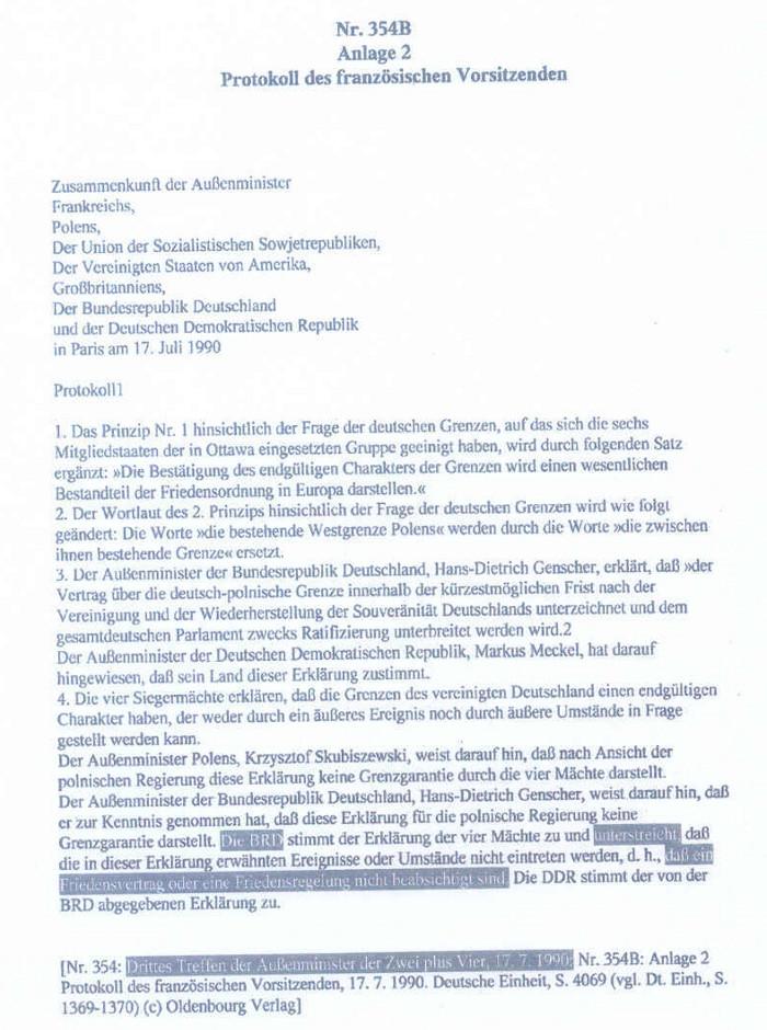 US Hauptquartier bestätigt Nichtexistenz der Bundesrepublik ...