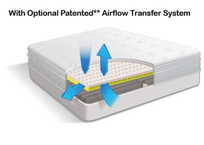 Air Pedic 600 Optional Patented Airflow Transfer Sytem