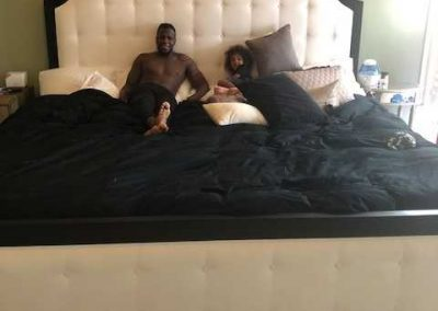 Mohamed Sanu. WR for the Atlanta Falcons enjoying his brand new Ultrabed® Mattress!
