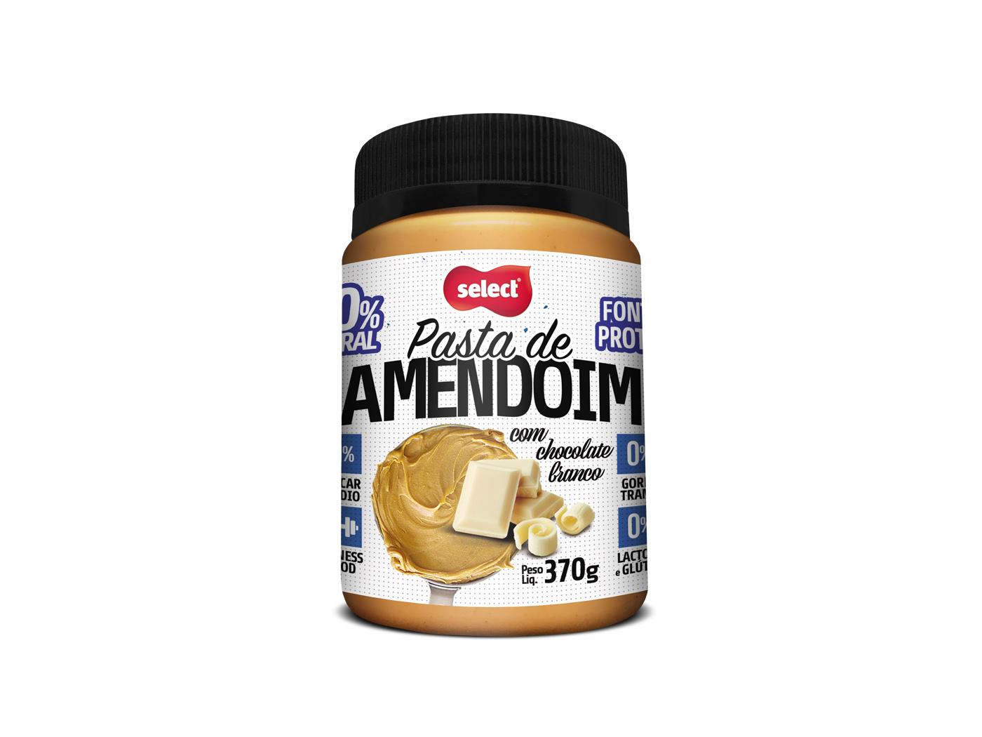 pasta chocolate branco select amendoim