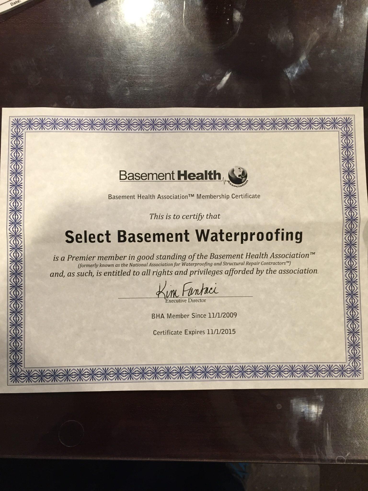 Basement Waterproofing New Jersey Select Basement