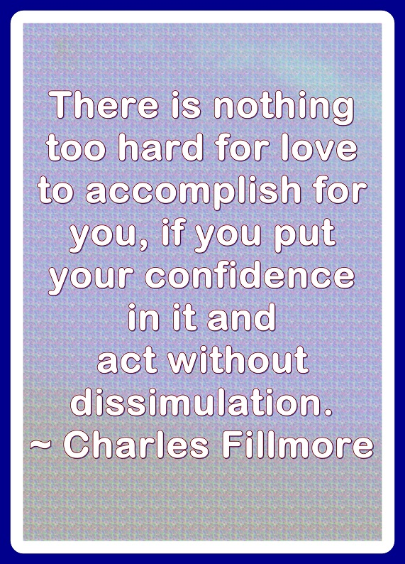 There is nothing that Love cannot accomplish.