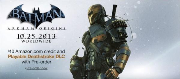 Batman Arkham Origins Pre-Order Deathstroke DLC