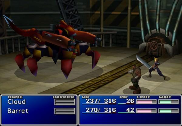 Final Fantasy VII PC Battle Screenshot