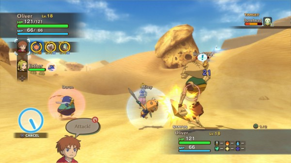 Ni No Kuni Wrath of the White Witch - Battle Gameplay Screenshot