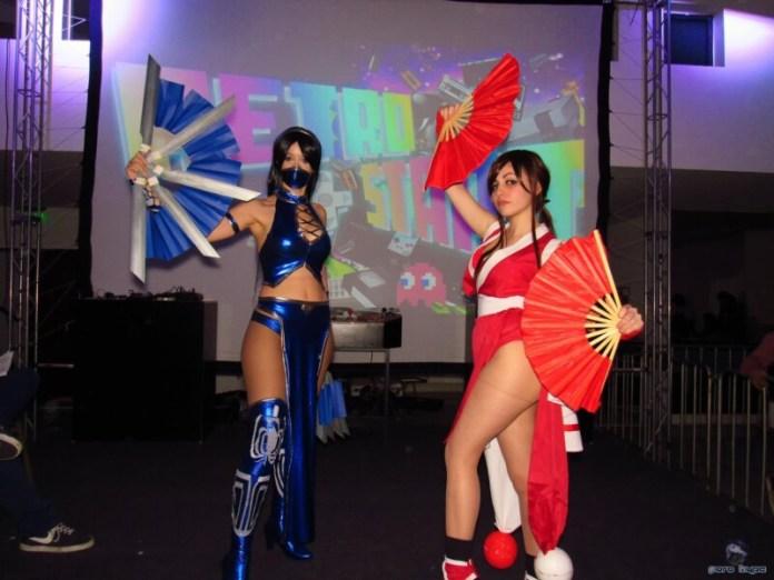 Cosplays - Mai Shiranui e Kitana - The King of Fighters - Por LifeisaFiction