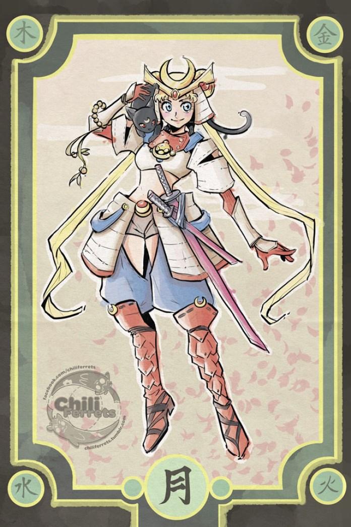 Sailor Moon - Samurai Moon Art - 01