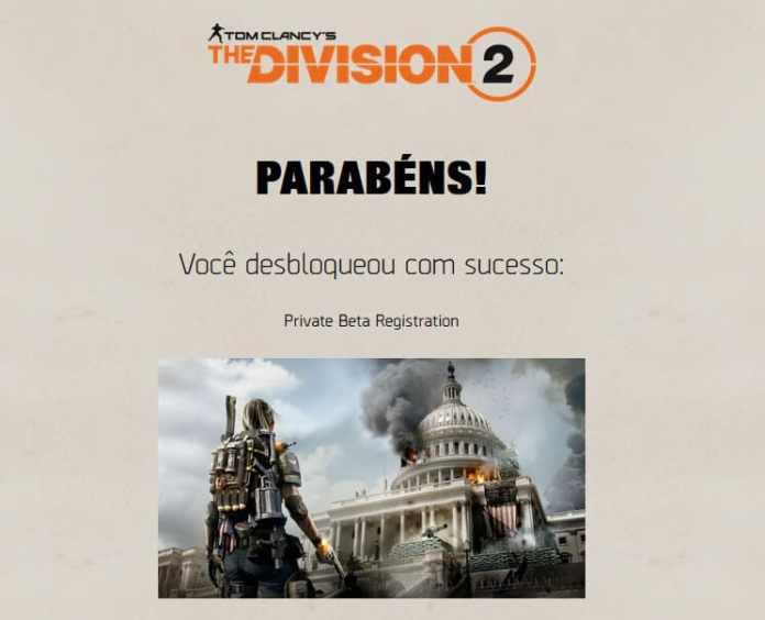 The Division 2 Acesso ao beta fechado