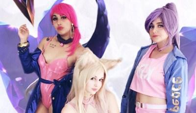 Ahri, Akali e Evelynn em versões K/DA nestes belos cosplays de League of Legends