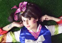Palanquin DVA Cosplay - Overwatch - With Blue Dress