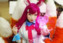 Ahri Colegial Cosplay - League of Legends - Roupa Escolar Academy Topo