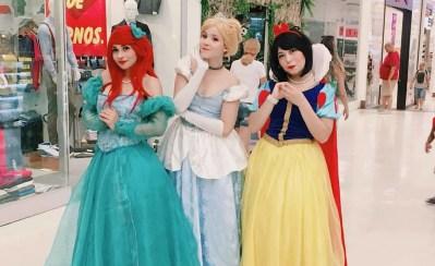Cosplays: Veja belas caracterizações de Branca de Neve, Cinderella e Ariel, da Pequena Sereia (Princesas Disney)