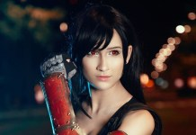 Cosplay da Tifa Lockhart - Final Fantasy VII Remake - RPG da Square-Enix Topo