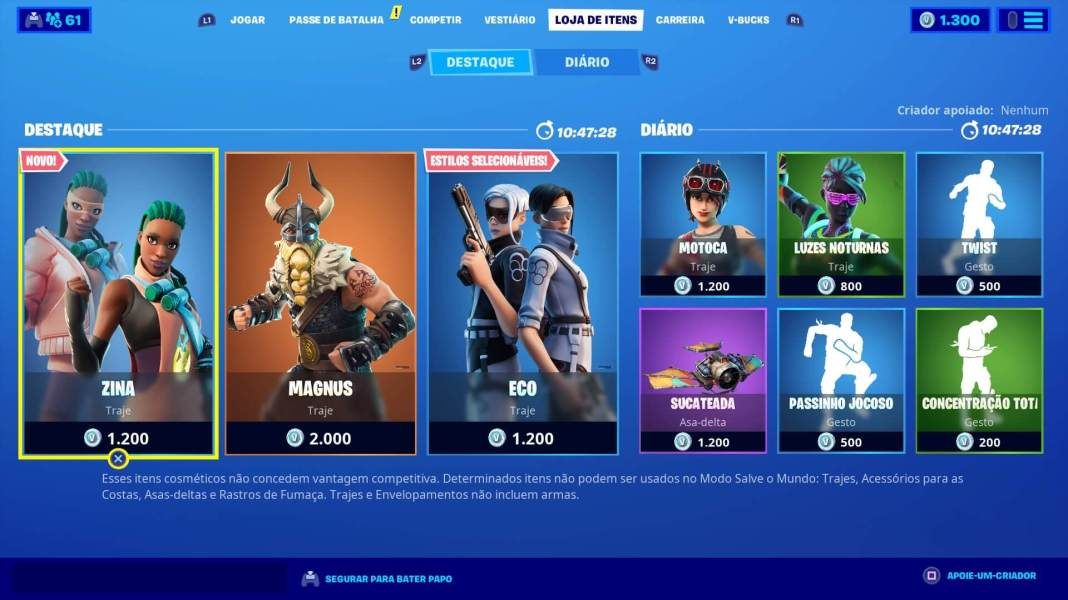 Fortnite - Item shop em 08-03-2020
